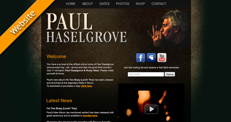 Paul Haselgrove Website