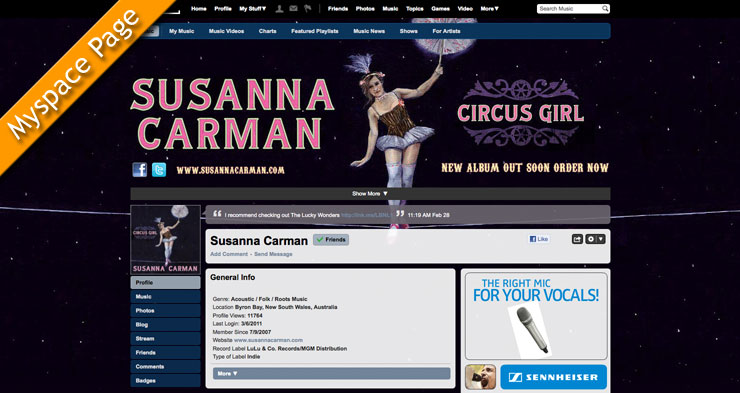 Susanna Carman Myspace